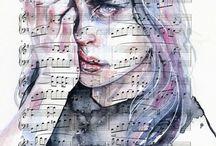 Music sheet art