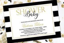 Honeyprint Baby Shower Invitations / Honeyprint Baby Shower Invitations - Printable or Printed and Shipped