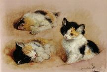 Cat Art - Henriette Ronner-Knip / Henriëtte Ronner-Knip (31 May 1821, Amsterdam - 2 March 1909, Elsene) was a Dutch painter. Born Henriëtte Knip in Amsterdam, she moved at a young age to Den Bosch and was until 1850 active in Sint-Michielsgestel and Boxtel. That year she married Feico Ronner and moved to Belgium, first to Brussels and in 1878 to Elsene. She studied with her father, Joseph August Knip. She was best known for her paintings of subjects from nature, especially cats and dogs.