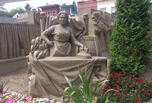 Zandsculpturen / Beeldhouw kunst met zand