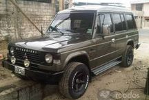 blacked out pajero