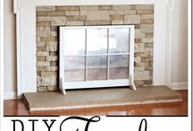 firleplace makeover / ideas for redoing the brick fireplace in VA house