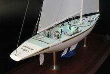 America's Cup Sailboat Model / Famous America's Cup Yacht, Sailboats Models