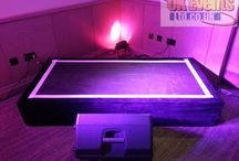 Indoor Staging / Whatever the requirement, we have a stage to suit. Whether it's for speeches, top-tables, bands, DJs or a performance, we can provide the correct stage for your event - Any size, any height.