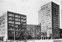 RM 1970 Twin Parks Northeast Housing, 735 Garden Street, The Bronx NY.  Commissioned 1969. / RICHARD MEIER