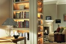Bookshelves, Bookshelves, and more Bookshelves / GainesvilleandBeyond.com / We LOVE books, and reading, and nooks, and bookcases galore. We want all of these!  @KristenNRebecca