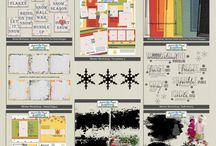WINTER SCRAPBOOK KITS / Winter themed digital Scrapbook Kits