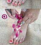 fleur au pied