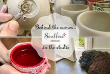 Artisan pottery / A beautiful collection of handmade ceramic cups and bowls, made in the Soulfire Artisan studio
