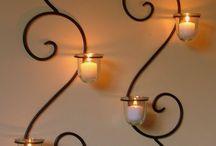 Lámpák, gyertya és mécsestartók