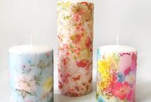 Candles Decoupage