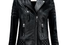 chaquetas cuero mujer black