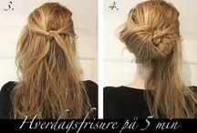 Frisurer langt hår