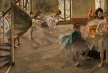 Edgar Degas / Francuski malarz i rzeźbiarz impresjonistyczny. Pełna inwencji kompozycja, świetna kreska i umiejętność przedstawiania postaci w ruchu przyczyniły się do uznania go za jednego z największych malarzy końca XIX wieku.