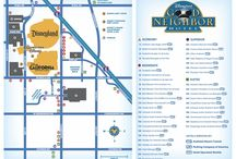 Disneyland Resort/Hotel Maps-Great for the 1/2 Marathon Weekends