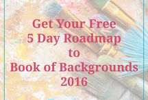 Book of Backgrounds / Series of video lessons on creating backgrounds as your base for any type of artwork.