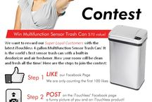 Facebook Contest / Join our contest to win a Multifunction Sensor Trash Can ($70 value)!