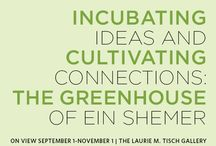 Incubating Ideas and Cultivating Connections: The Greenhouse of Ein Shemer / The exhibit helps us examine the agricultural themes of shmita, and serves as an introduction to The Greenhouse of Ein Shemer, Israel, a remarkable place of learning, growth, and innovation. Through the recreation of many of the Greenhouse's living walls alongside photographs by the renowned photographer Frédéric Brenner, Incubating Ideas and Cultivating Connections strives to remind us of a core lesson of shmita: The earth does not belong to us; we are merely its stewards.