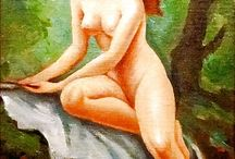 Szánthó Mária (1897 – 1998) : Női Egész Alakos Női Akt