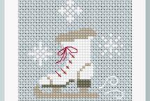keresztszemes karácsonyi szívek