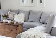 White or Grey living room furniture