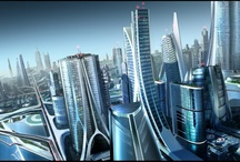 Futuristic / Futuristic world, city, architecture, design, consept, building