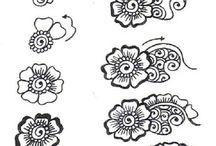 henna art pattern
