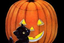 Black cats and broom sticks / Halloween and creepy stuff / by Jessica Girt