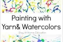 Skapande måleri