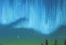 folk art clouds