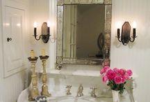 Farm Home: Bath Beauties / Farm bathrooms, sinks, showers, tubs, bathroom cabinets and decor.