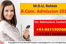 MDU B.Com Admission 2017 / Get MDU B.Com Admission 2017 application form, fee structure details and take admission in top b.com colleges in Delhi NCR. For queries contact @ 09311707000, 09312650500.
