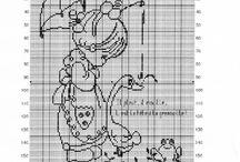 Cross stitch BIMBE E DAMINE TENERE