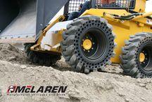 McLaren Dirt Terrain Skid Steer Tires  / McLaren series Nu-Air tires for skid steer loaders