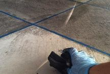 cement staining