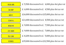 New May 2015 Special Offers / Monthly bargain number plates for May 2015