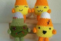 Candy Corn Halloween / patrón gratis