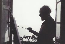 Artists at Play / Artists in action, painting in their studios. / by Tara Leaver | Artist & Teacher