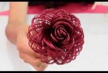 Flor de rafia