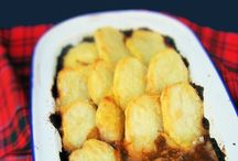 cottage pie with sliced potatoes