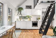 House of 31 square meters with beautiful decoration black and white