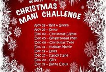NO RULES CHRISTMAS MANI CHALLENGE #xmasnorules / I will post here all the designs I will do related with this challenge!. All the details will be on my Blogg or Facebook page if you like to check.