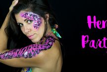 hen party barcelona / Hen doo, hen party hen weekend in Barcelona with CaraMona bodypainting. Hen party experience, make up party for hen doo in Barcelona! Photography session for hen party in barcelona!