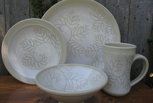 Handmade Dinnerware by Jean's Clay Studio / Hand made dinnerware by Jean's Clay Studio. Dishwasher and microwave safe. http://jeansclaystudio.com / by Jean Wells - Jean's Clay Studio
