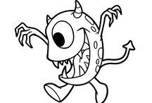 Dibujos de Monstruos para colorear / Pinta y colorea los dibujos de monstruos más espeluznantes y divertidos de la red. Descarga e imprime dibujos de alienígenas, zombies, vampiros, demonios ¡Son de miedo!