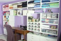 dream sewing area / ideas for the most perfect sewing room / by Diane Williams