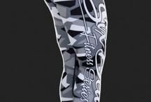 Camo Grey - legginsy Six Deuce