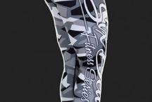 Camo Grey - legginsy Six Deuce