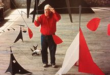 Alexander Calder / Alexander Calder was an American sculptor best known as the originator of the mobile, a type of kinetic sculpture made with delicately balanced or suspended components which move in response to motor power or air currents. Wikipedia