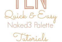 Naked 3 Palette Tutorials